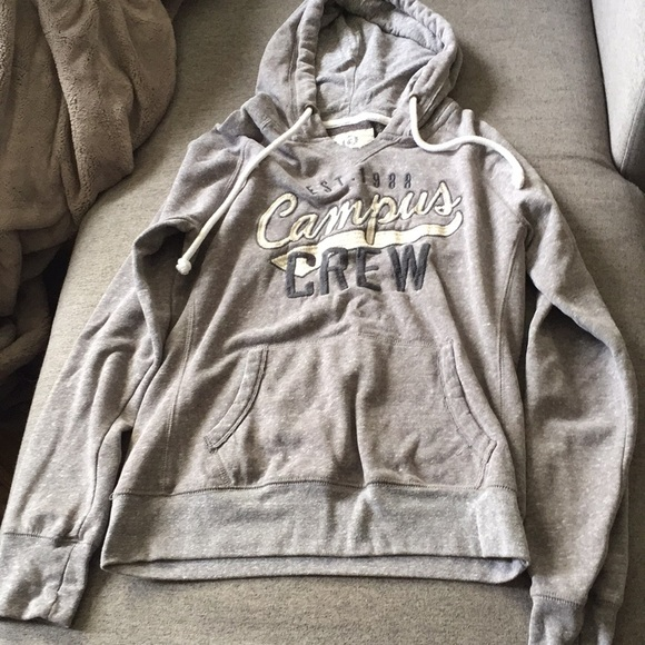 Campus crew grey hoody size medium